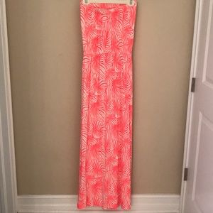 GAP Dresses - Coral and cream Hawaiian style dress